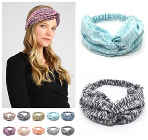2020 New Bohemia Style Stretch Wide Head Wrap Women Elastic Headband Yoga Wash Face Sport Hair Bands colorful Hair Accessories