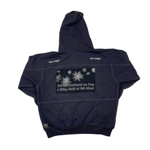 Mens Designer Hoodies Brand CAV EMPT X THE POOL Loose Oversize Hip Hop Hoodies Casual Hooded Sweatshirts High Street Pullover
