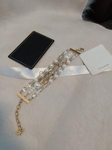 mulheres senhoras femininos personalidade exagerada do punk sexy boate pérolas pulseiras pulseiras pulseira com frete grátis caixa