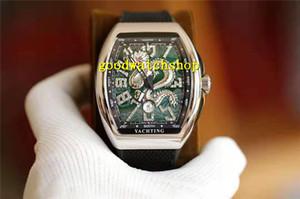VF Vanguard V45 di lusso Mens Watch Tonneau da polso immersioni subacquee di orologi svizzeri 8215 Automatico Diamante Scala Relief Loong quadrante smaltato Arc Sapphire