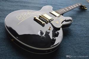 BB King Crown elektro gitar siyah içi boş caz gitar oem kullanılabilir EMS ücretsiz gönderim kişiselleştirilmiş özelleştirme hizmet sunmak için