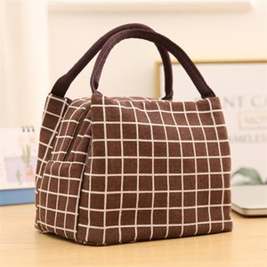 Lattice Printing Lunch Tote Bags Insulated Coolers Sack Creative Zipper Handbag Kitchen Portable Hot Sale 5 2pd UU