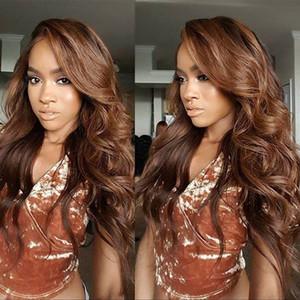Cheveux humains brésiliens avant de lacet perruques casquette moyenne en soie haut Big bouclés Full Lace perruque de cheveux humains # 1bT # 30 Perruque humaine Ombre