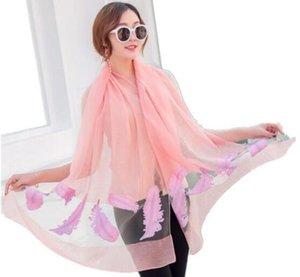 La nueva versión del período de primavera y otoño, la pluma de la bufanda de plumas corte yawa, largo hilo de Eugen, color puro ahuecado L934 bufanda