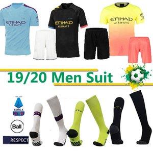 Tay MANCHESTER takım şehir erkekler takım elbise çorap STERLING Kun Agüero Mahrez futbol forması BOY İSA DE BRUYNE SANE DE BRUYNE BOYS Futbol takım soc