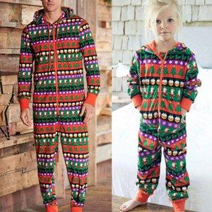 Corrispondenza della moda di New Inverno Natale in famiglia a maniche lunghe Pajamas Set età Donne Bambini Pigiameria da notte