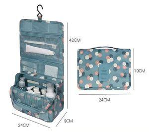 DHL Бесплатные подвесные туалетные мешок для мытья моют путешествия организатор сумка макияж косметические сумки с подвесным крюком водонепроницаемый ванной сумка большой емкости