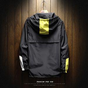 2019 Мужчины Горячий продавать весной и осенью новый стиль моды Человек Строчка куртки Мужская одежда Смешанные цвета с капюшоном Пуловер Baseball U