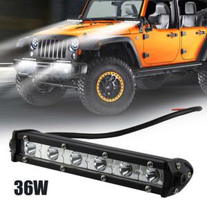 36 / 18W 12V 7inch LED 작업 빛 막대 스포트 라이트 홍수 램프 운전 안개 LED 작업 차 빛 끄기 도로 SUV 트럭 버스 6000K