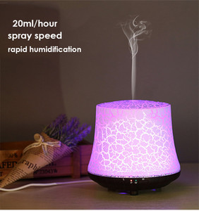 Wooden Grain Crack Style Ultrasonic Air Humidifier Desktop Colorful Night Light Essential Oil Aroma Diffuser Aromatharapy Machine