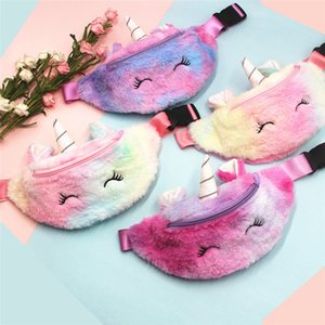 Baby Bags Kids Shoulder Waist Bag Girls Cartoon Crossbody Unicorns Child Messenger D22901 Cute Pack Plush Outdoor Handbags Purse Ch Firva