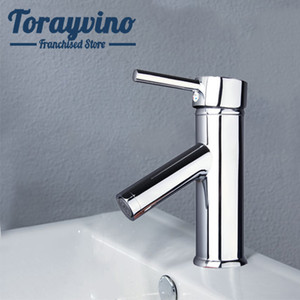 wholesale bath basin faucet Chrome Finish Torneira Single Lever Newly Bathroom Basin Sink hot & cold Mixer Tap brass Faucet