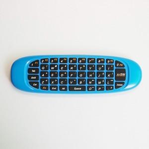 2.4G Wireless Fly Gaming Air Mouse C120 4 Farben Tastatur Griff Fernbedienung für Laptop-Set-Top-Boxen Android TV X96 TX6