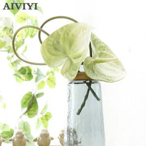 Flower Art tocco reale Anthurium Rosa Fiore Calla artificiale di plastica falso matrimonio trasporto libero impermeabile