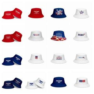 Donald Trump 2020 Fisherman Hat keep America Great Bucket Hats Summer Fashion Sunscreen Caps Party Hats Supply 17styles RRA3136
