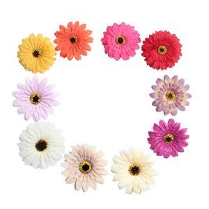 10pc Artificial Gerbera Flower Head Silk Daisy For Wedding Decoration DIY Wreath