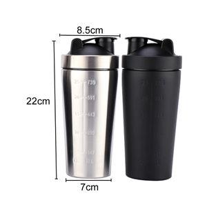 25 oz Proteína Shaker Cup Stainless Steel Copos 739ML vácuo garrafa isolados Shaker Água Sports Mixer Milkshake Cup Coffee Cup BC BH0573