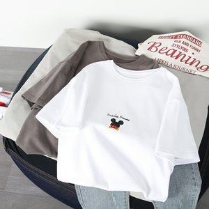 Fashion Women's T-shirt 2020 Summer Pure Cotton Short Sleeve Loose Design Cartoon Pattern T-shirt Women new Size S-XL-2