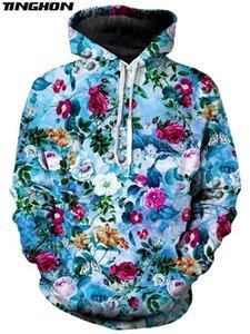XS-7XL New Fashion Mens Hoodies Retro flowers Rose   Peony   chrysanthemum Print 3d Unisex Casual Hooded Sweatshirt 04 Y200601