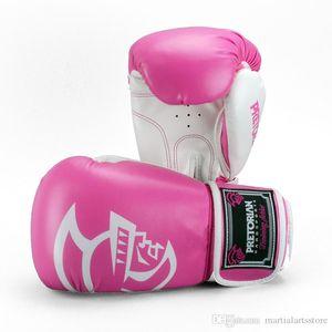 bestes Verkauf Großhandel Leder Boxhandschuh hohe Qualität Muay Thai gewinnt rosa Boxhandschuhen für Frauen
