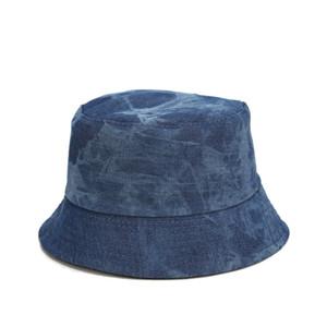 야외 자외선 차단제 캡 사냥 chapeau feminino 2020 봄 여름 양측 버킷 모자 청바지 재질면 어부의 모자