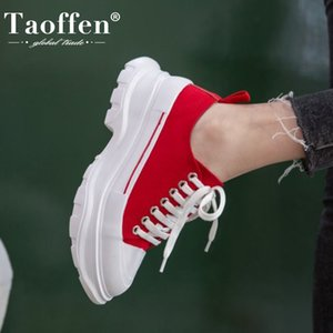 Taoffen Printemps Sneakers Chaussures mode Derbies Plateforme Femmes Talons Casual Daily Lady Chaussures Taille 34-41