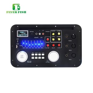 Freeshipping LCD AAC Monitores de audio Módulo MP3 FLAC USB TF BASS MICPHONE XLR LYRIC Mezcla Consonle etooth AUX TRS PHONE Decording Borad