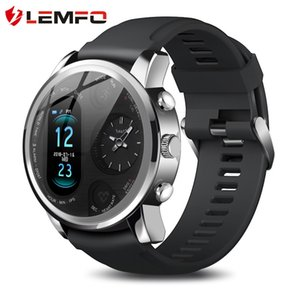 LEMFO T3pro Dual Display Waterproof Smart Watch Men Two Time Zones Smart Watches Sport and Commerce Health Tracker Men's Watch
