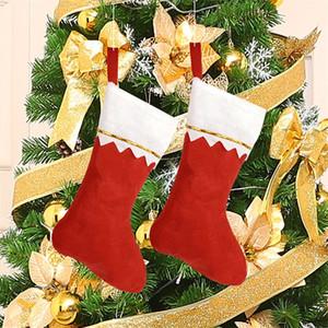 Nonwovens Meia de Natal Branco Verde Borda Meias Ordinárias Festival Suprimentos Meias Meias de Suspensão Vermelho Nova Chegada 1 6gs L1