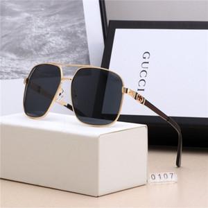 Модные солнцезащитные очки люнеты де Солей люксусный налить Femmes мужчины Роскошная марка 1GGG Солнцезащитные очки 1GUV400