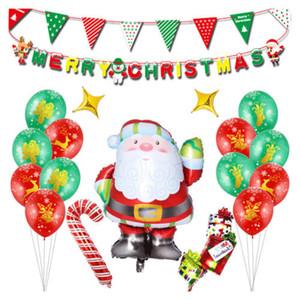 40PCS عيد الميلاد سانتا كلوز بالون مجموعة حزب الاحتفالية ديكو الألومنيوم بالون جديد