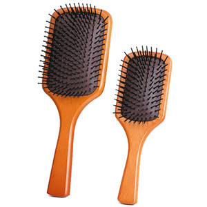 Air cushion hair brush wooden comb straight curly scalp health massage comb wooden smooth hair care