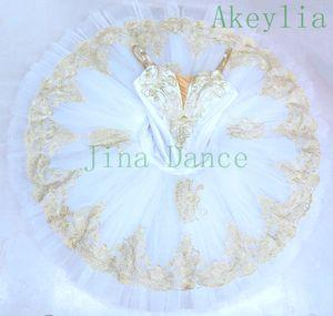 niñas durmiendo variación belleza Pre-profesional de las mujeres de ballet tutus crema vestido Raymonda tutú blanco y traje de ballet clásico de oro