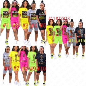 Designer Letter BLACK LIVES MATTER Print Women Outfits Crew Neck Short Sleeve T shirt Pullover Tops Shorts Set Trendy 2 Pcs Tracksuit D61903