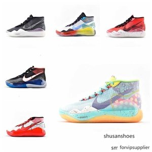2019 Mvp Kevin Durant zoom KD 12 Anniversary University 12S XII Oreo Men Basketball Shoes USA Elite KD12 Sport Sneakers Size 40-46