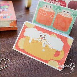 12 pcs / caixa memo Lot dos desenhos animados fruta doce de leite achocolatado notas biscoito ferramentas material de escritório Fontes de escola F368