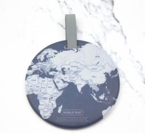 Çanta Parçaları Bagaj Etiketi Küresel Harita Silika Bavul Kimlik Adres Tutucu Tanıtıcı Bagaj Yatılı Etiketler Taşınabilir Seyahat Aksesuarları