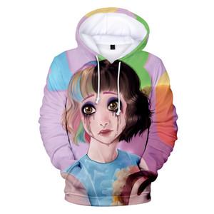 Teenager Girl Donne Designer con cappuccio Crybaby 3D Stampato con cappuccio Felpe Carino Pullover