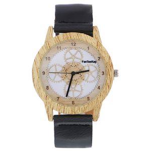 Дерево ретро человек женщины повседневные часы Марка старинные деревянные наручные часы с Кожаный ремешок кварцевые часы мода лицо деревянные платье часы
