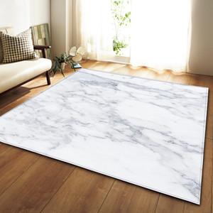 Motif en marbre nordique 3D Tapis doux Flanelle Petits tapis Parlor Table antidérapage Chambre chevet Tapis Salon Grand Tapis