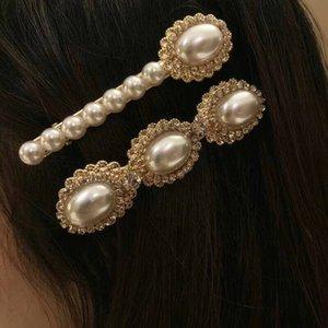 INS Moda Pearl Spring clips de lujo Clip fiesta de la boda para las pinzas de novia linda chicas Perla Accesorios de Moda