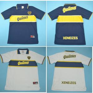 Top 96 97 Boca Juniors Maradona fútbol retro jerseys clásicos Jersey 1996 1997 RIQUELME camiseta de fútbol ROMANO maillot de pie