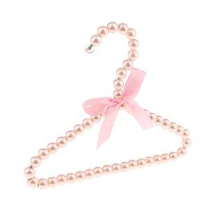 Abbigliamento Coat Hanger Bow Pearl Rack per i bambini I bambini Dolce rosa 20x16cm