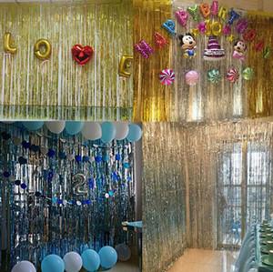 1 m * 2 M 1 m * 3 M Düğün Backdrop Tinsel Perde Photo Booth Zemin Folyo Kapı Perde Doğum Günü Pullu Backdrop Mermaid Parti Süslemeleri