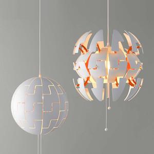 Светодиодный свет подвеска Современный Деформация Single Head Hanging Ресторан Кухня Лампа Акриловый круглый шар Прикроватная светотехника