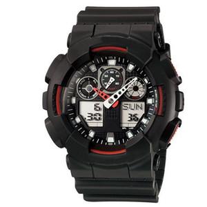 do cronógrafo Choque relógio de pulso Men Sports G Estilo Relógios Estudante exterior Correndo Ladies Sports Watch LED Dual Display Multi-função de relógio