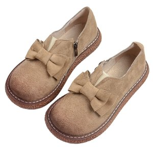 Mori literary retro big head doll shoes Japanese thick bottom wild muffin women's shoes Harajuku style Loafers flat single shoes
