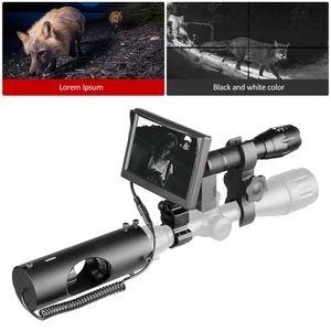 850nm 적외선 야간 투시경 광학 시력 전술 492 FT / 150 M 레이저 IR 장치 사냥 리플 스코프 카메라