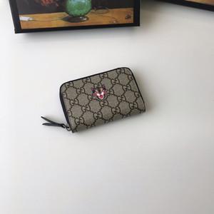 2019 роскошных мужской короткий Zip Wallet классический дизайнер женщин бумажник клип животное бумажник с коробкой