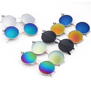 Unisex Sonnenbrille Retro-runde Metallrahmen Sonnenbrillen Gradient Farbe ändern Brillen Sport Antrieb Außen Strand Sonnenbrillen